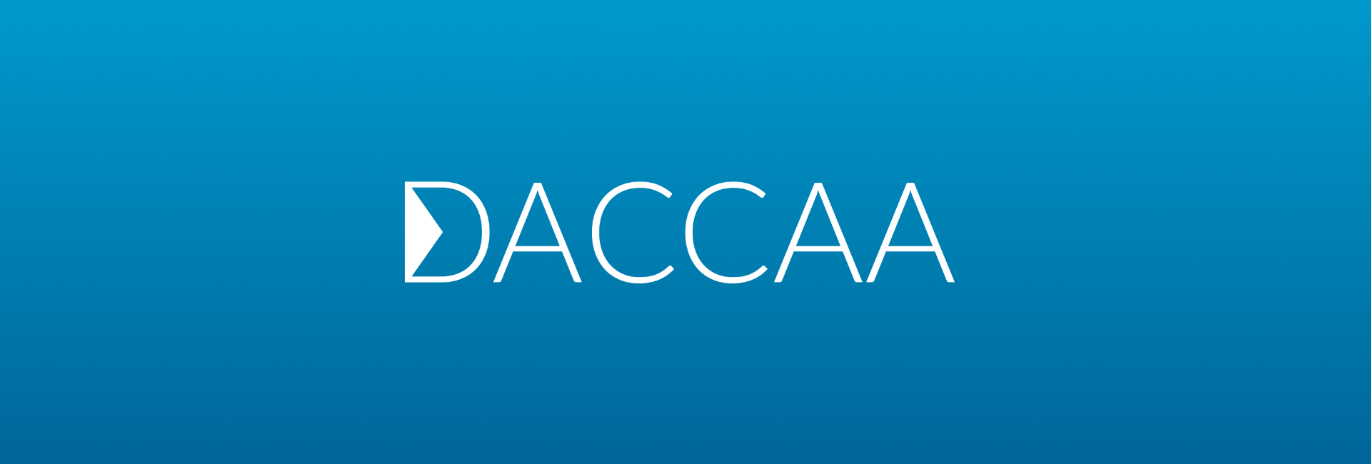 The current DACCAA Logo with its triangular D
