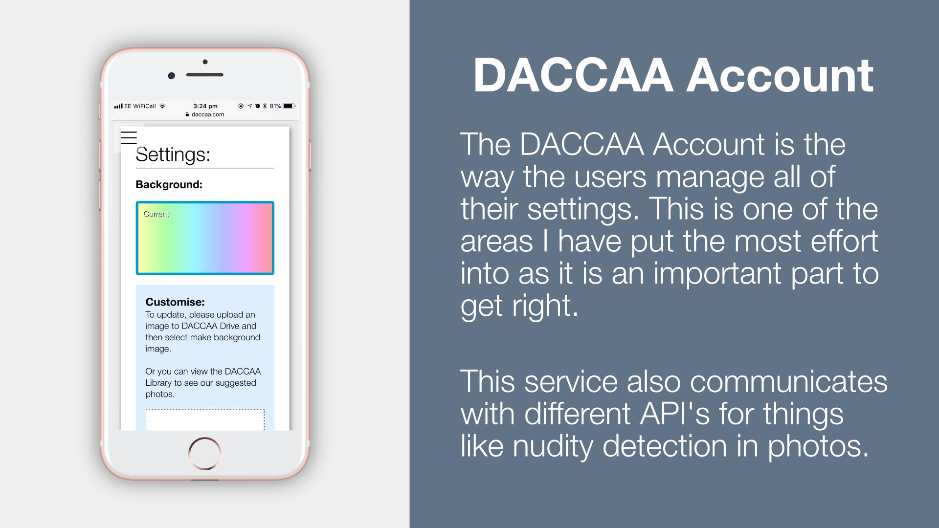 DACCAA Account