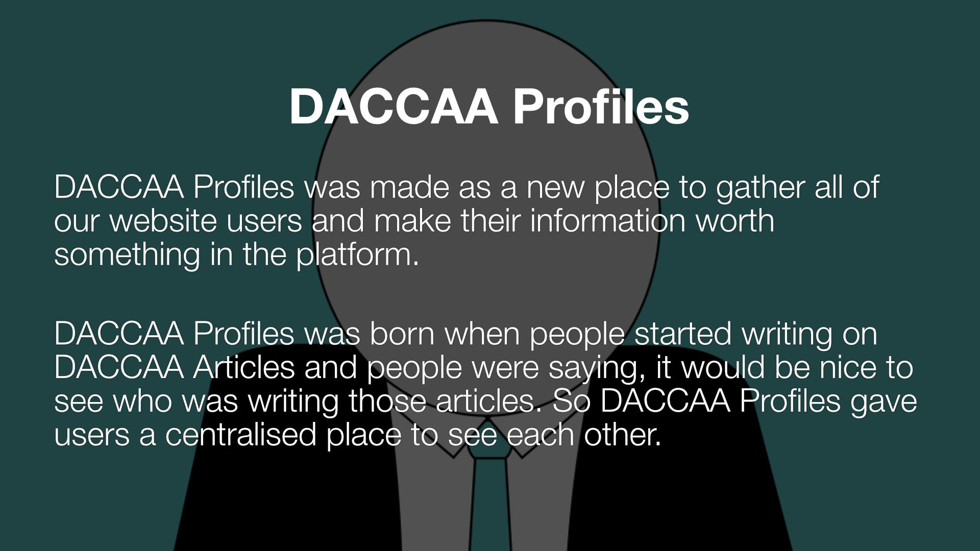 DACCAA Profiles